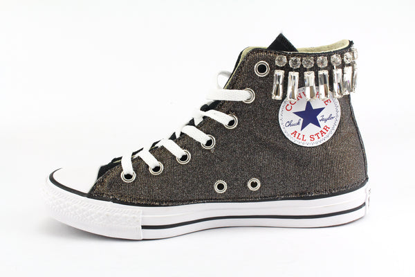 Converse All Star Black Lurex & Gioielli
