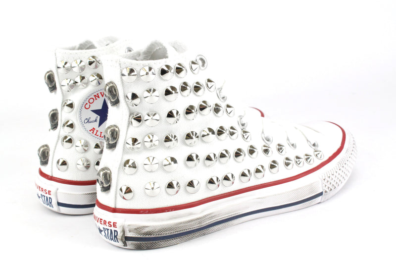 Converse All Star White Total Borchie