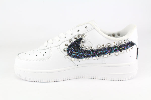 Nike Air Force 1 '07 Black Iris Glitter Borchie & Strass