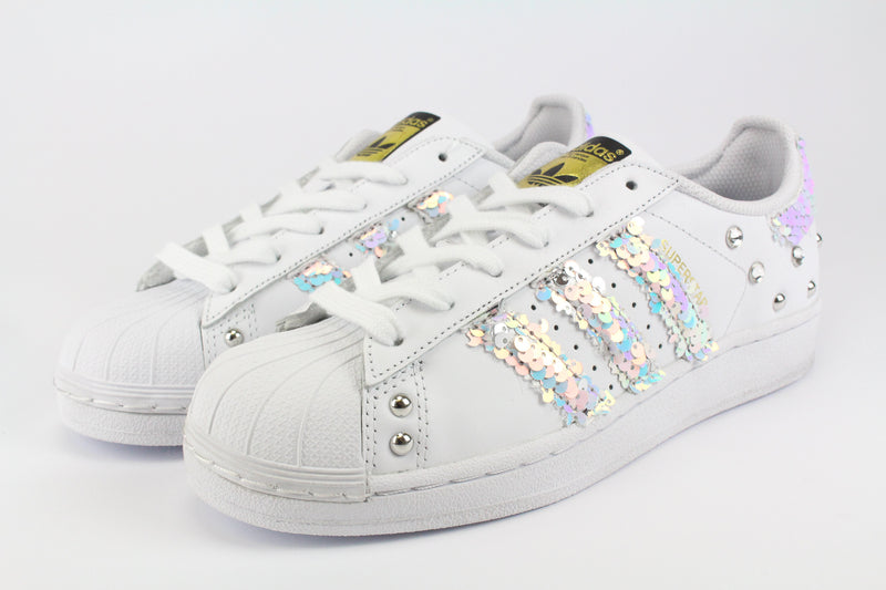 Adidas Superstar Multicolor Paillettes Strass & Borchie