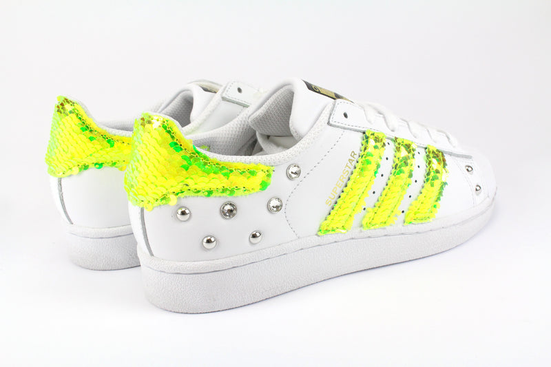Adidas Superstar Fluo Paillettes Strass & Borchie
