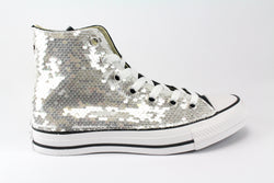 Converse All Star Black & Silver Paillettes