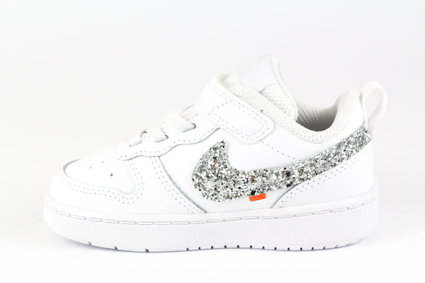 Nike Court Borough Low 2 Silver Glitter & Ricami