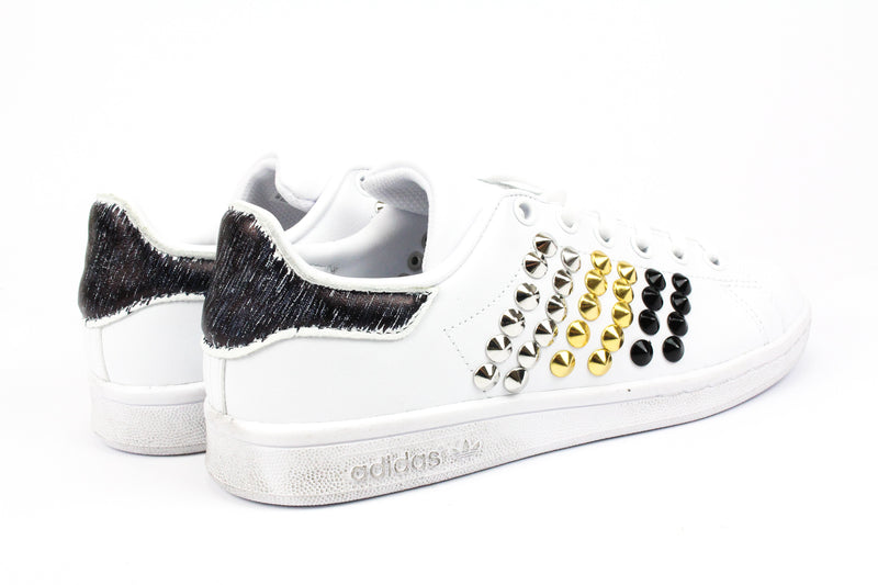 Adidas Stan Smith Silver/ Gold / Black Borchie & Graffiti