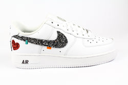 Nike Air Force 1 '07 Black Silver Glitter & Cuore