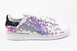 Adidas Stan Smith Paillettes Multicolor & Black Iris Glitter