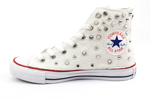 Converse All Star Total Borchie Perle & Strass