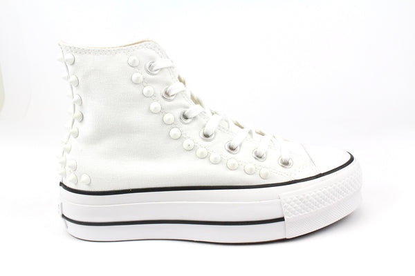 Converse All Star Platform White & Borchie
