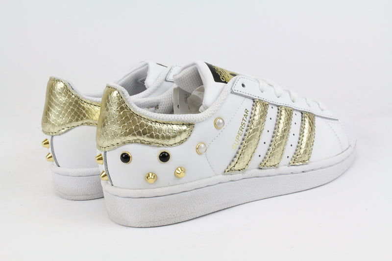 Adidas Superstar Pitone Laminato Gold & Borchie