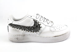 Nike Air Force 1 '07 Black Silver Glitter Borchie & Lacci Cartoon