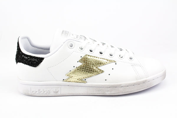 Adidas Stan Smith Fulmine Pitone Laminato & Black Glitter
