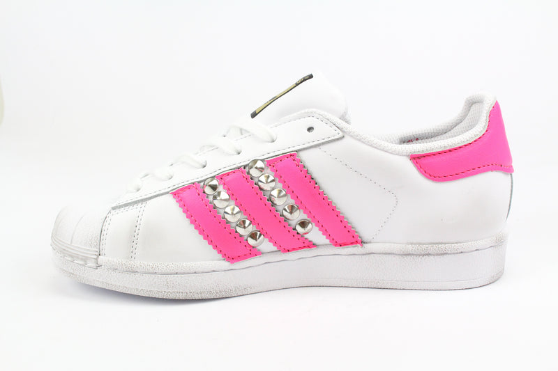 Adidas Superstar Pink Fluo & Borchie