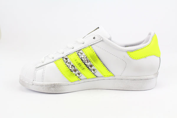 Adidas Superstar Yellow Fluo & Borchie