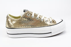 Converse All Star Platform Total Pitone Laminato
