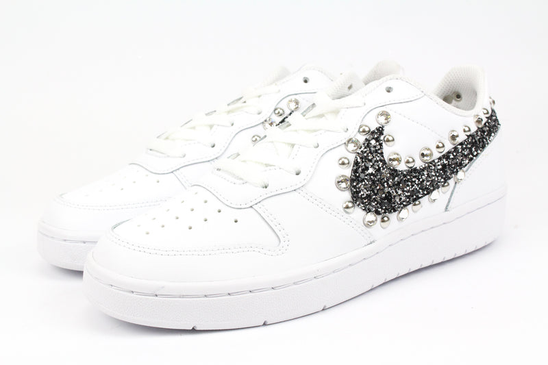 Nike Court Borough Low 2 Black Silver Glitter & Strass
