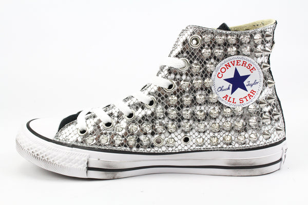 Converse All Star Total Pitone Laminato & Borchie