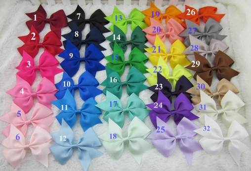 3.5 inch (8.75cm) Grosgrain ribbon Bow Hair Clips | Oaklands, Moodbury Westfields