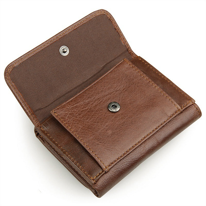 AD2176 Wallet leather RFID protected Coffee