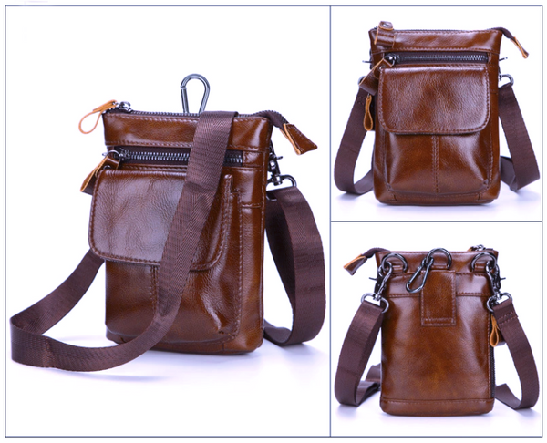 AD7165 Shoulder or Belt Bag Light Coffee