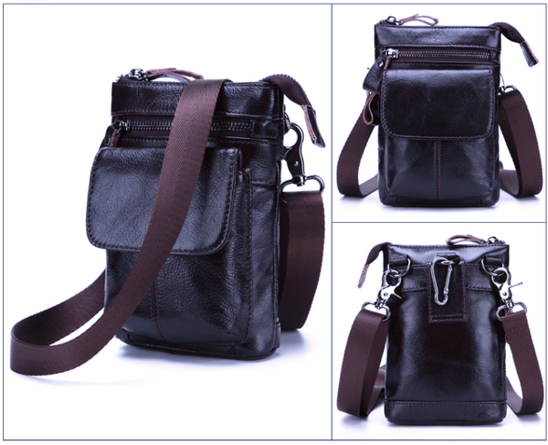 AD7165 Shoulder or Belt Bag Dark Coffee