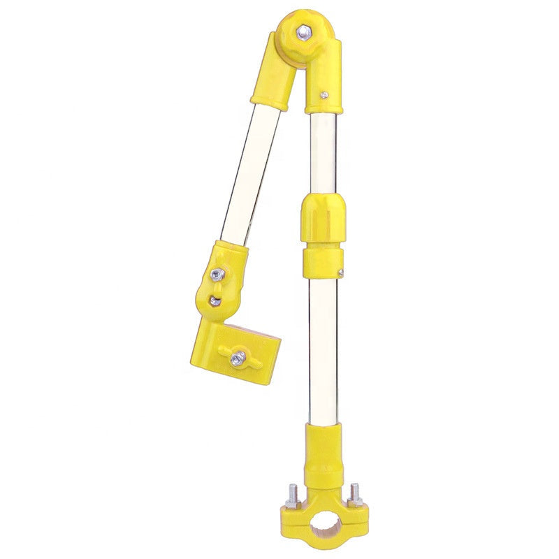 Yellow umbrella bracket/holder for wheelchairs, prams or bicycles