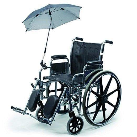 Blue umbrella bracket/holder for wheelchairs, prams or bicycles