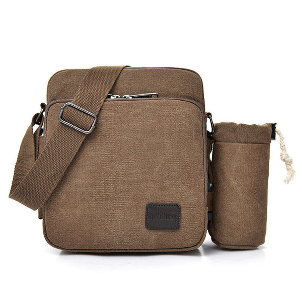 BP0506  Canvas Shoulder Bag Coffee