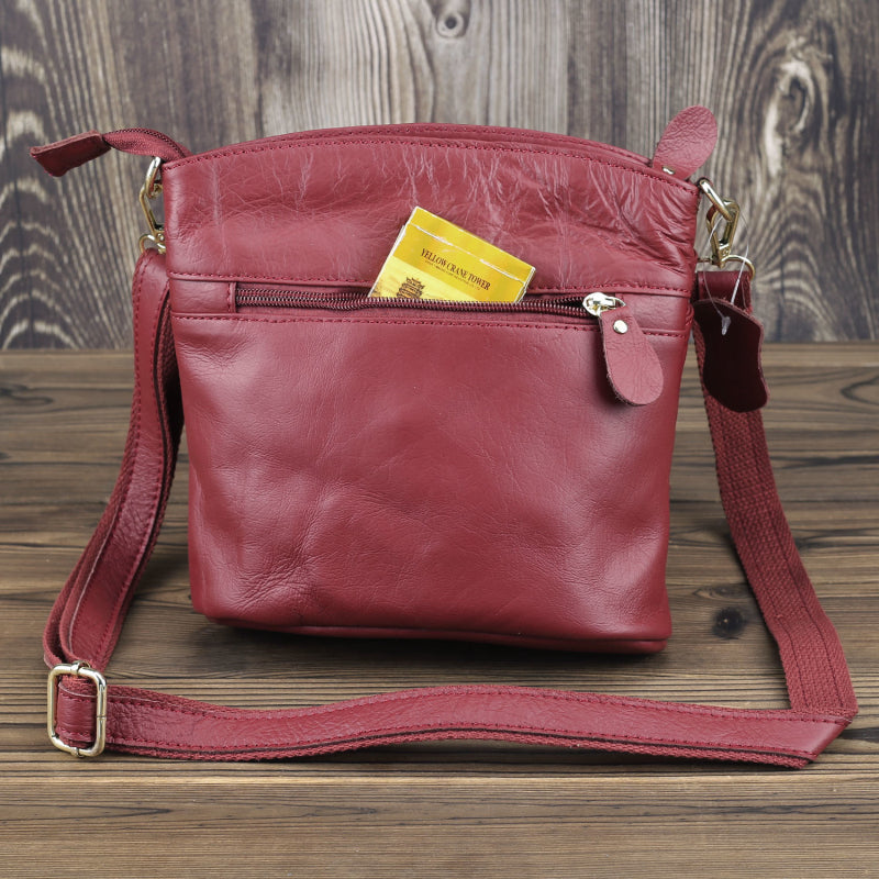 LDUNDJ018 Plain Handbag Red