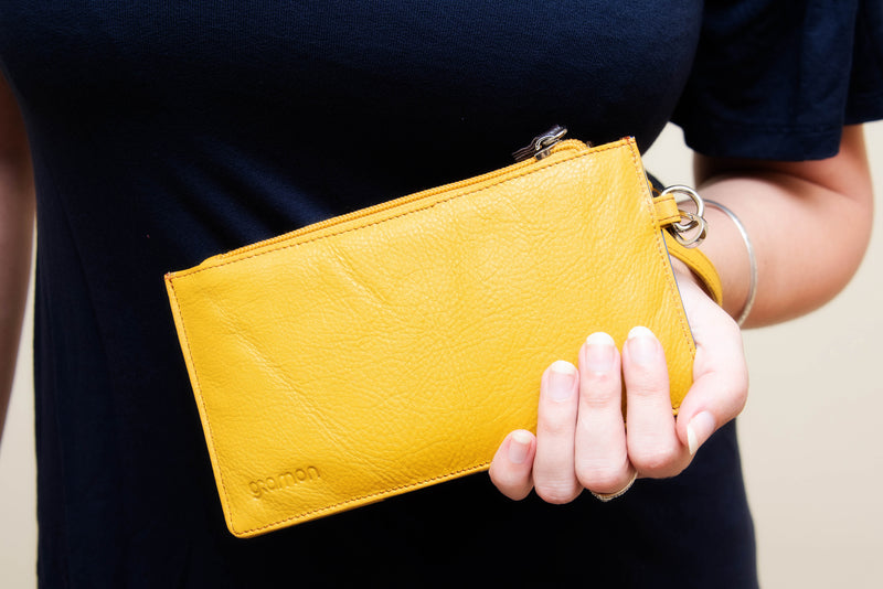 Yellow Gramon Ladies' Leather RFID Wallet