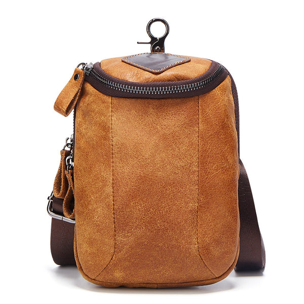 6331 Half-round Shoulder or Belt Bag Matte Brown