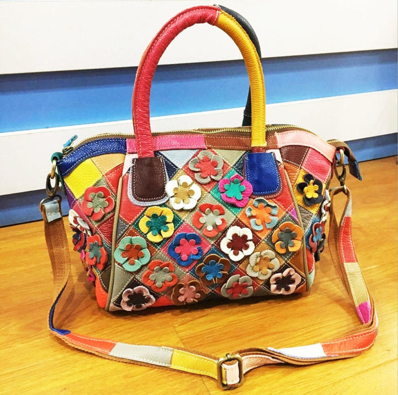SJYT418 Flower Handbag Colourful