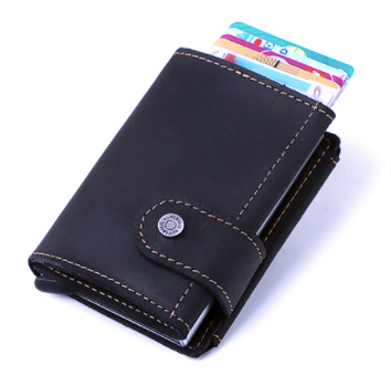 BP906 Pop-up Wallet leather RFID protected Coffee