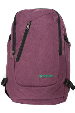 Wine Red Gramon Travel Backpack, Dual Port + RFID, Lockable