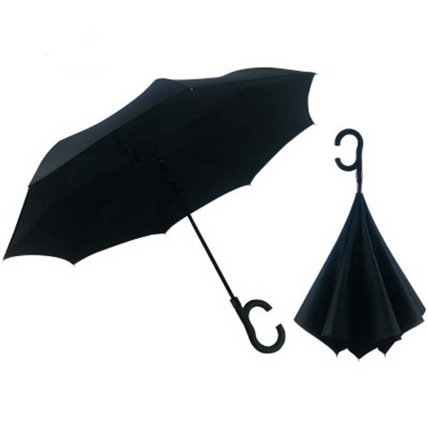 Black Inverted Umbrella AUTO Open / MANUAL Close