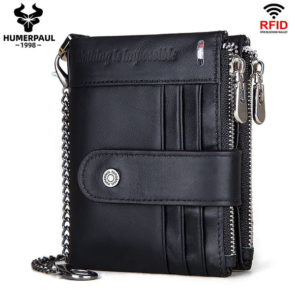 BP896 Hi-capacity Wallet leather RFID protected Black