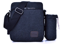 BP0506  Canvas Shoulder Bag Black