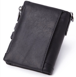 AD7101 Wallet leather RFID protected Black