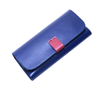 Glasses Case Leather Blue