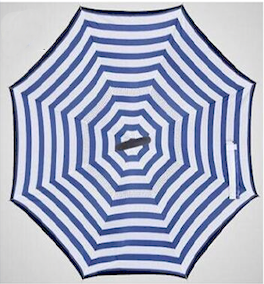 Blue and White Stripes Inverted Umbrella