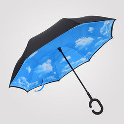 Blue Sky Inverted Umbrella Manual Open & Close