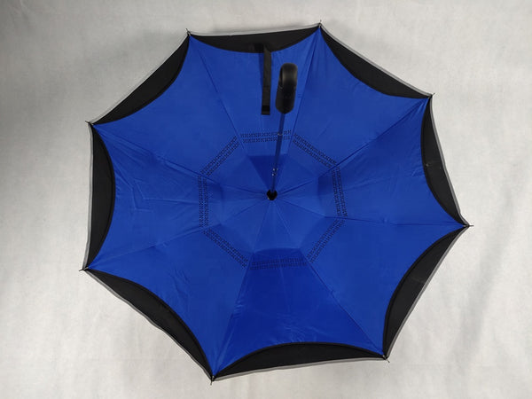 Blue COMPACT Inverted Umbrella AUTO Open / AUTO Close