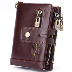 AD7101 Wallet leather RFID protected Coffee