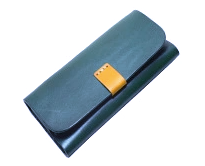 Glasses Case Leather Green