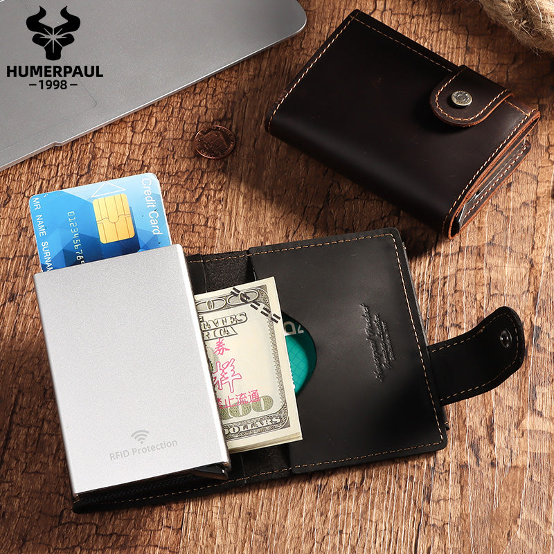 BP906 Pop-up Wallet leather RFID protected Black