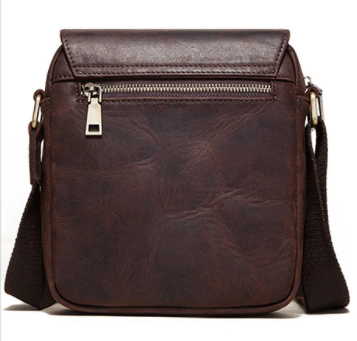 MH600 Humerpaul Shoulder Bag Crazyhorse Leather Coffee