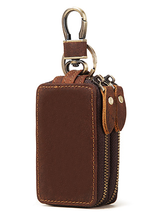 BP924 Key Case Leather Coffee