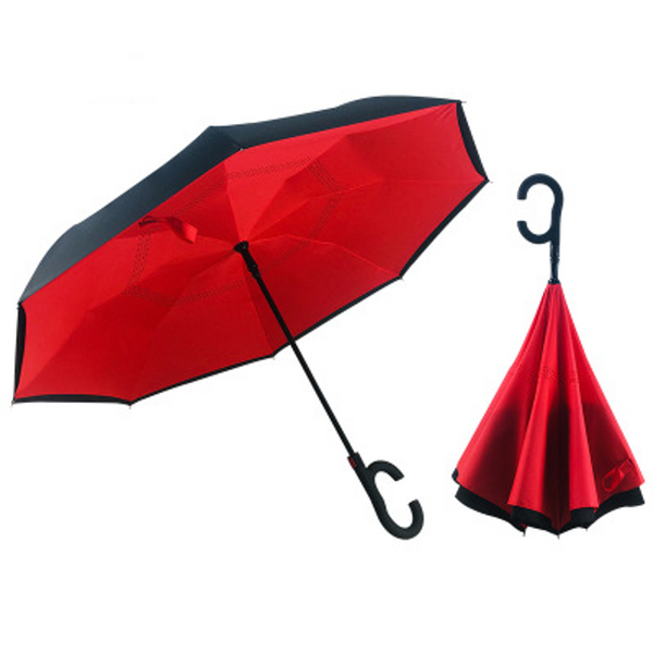 Red Inverted Umbrella AUTO Open / MANUAL Close