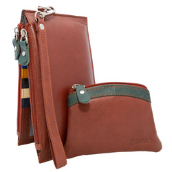 Brown Gramon Ladies' Leather RFID Wallet