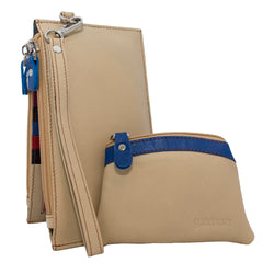 Cream Gramon Ladies' Leather RFID Wallet