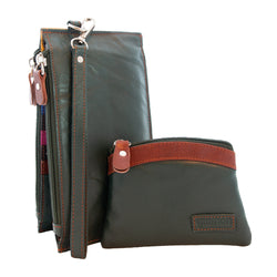 Dark Green Gramon Ladies' Leather RFID Wallet